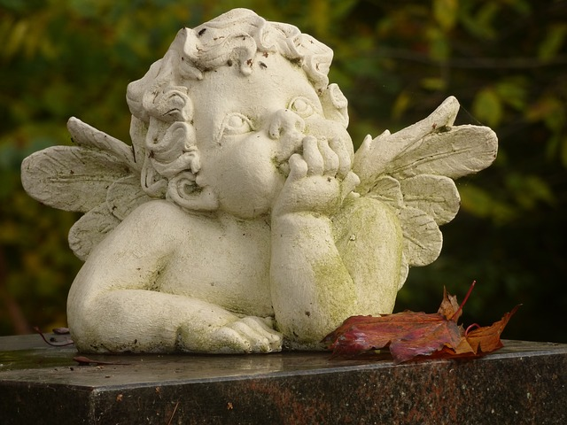 Angel, Deco, Cemetery, Angel Figure, Stone