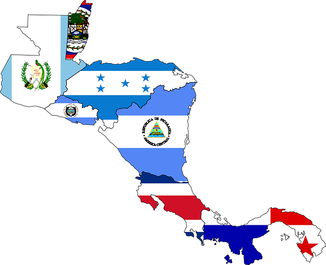 Central America, Map, Flag, Continent, Geography