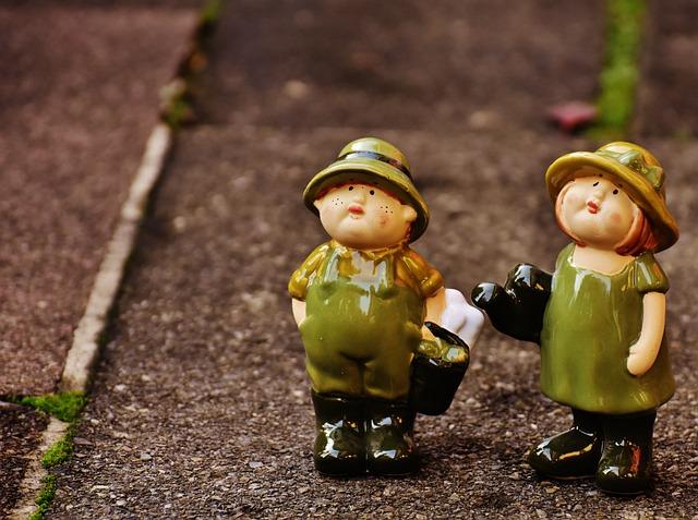 Garden, Gardening, Figures, Cute, Ceramic, Funny