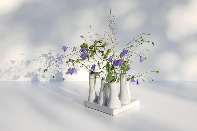 Ceramic, Decoration, Wild Flowers, Bellflower, Purple