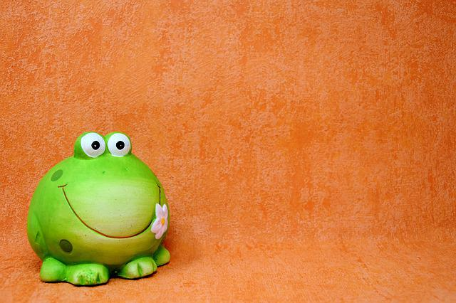 Frog, Figure, Funny, Animal, Fun, Green, Ceramic