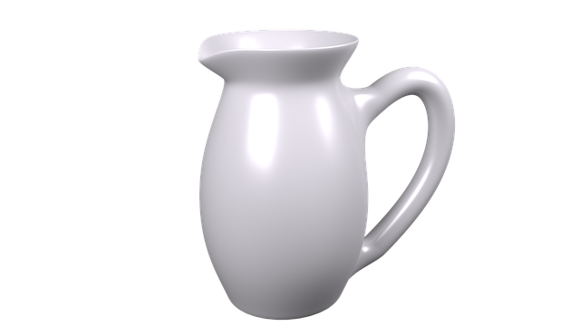 Ceramic Jug, Water Jug, White Jug, Pottery
