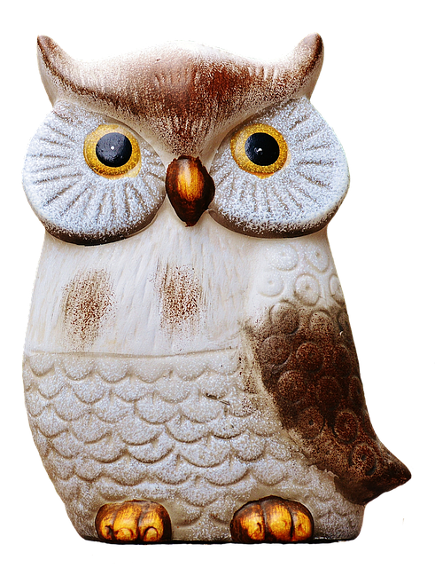 Owl, Ceramic, Isolated, Exemption, Cut Out, Figure