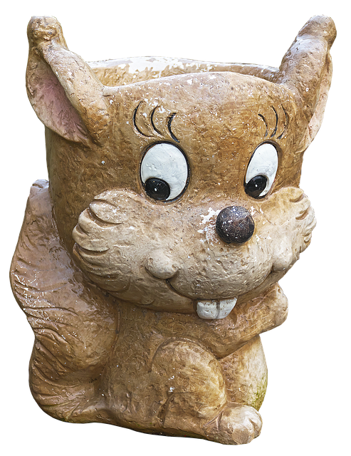 Free photo Ceramic Planters Flowerpot Rodent Funny Face Deco