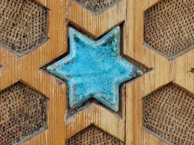 Star, Turquoise, Ceramic, Beautiful, Inlay