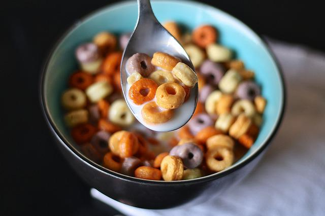 Cereal, Spoon, Milk, Cheerios, Children, Kid, Morning