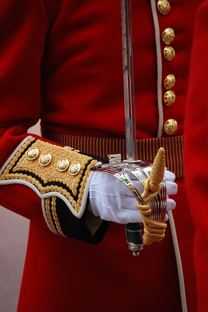 Uniform, Ceremonial, Red, Arm, Sword, Glove, Tradition