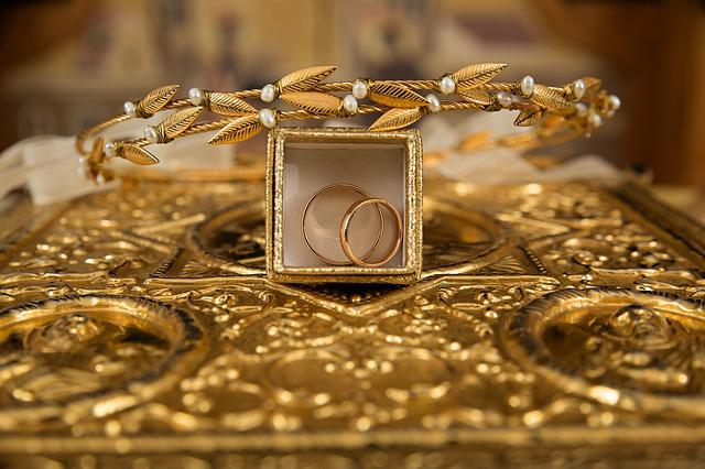 Ceremony, Gold Rings, Orthodox, Wedding Crowns