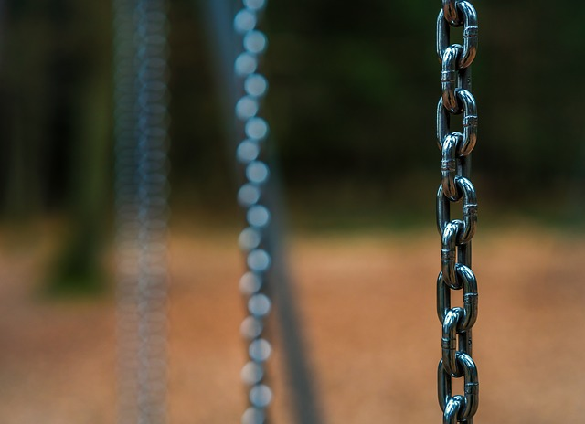 Chain, Iron, Steel, Security, Connect, Bokeh