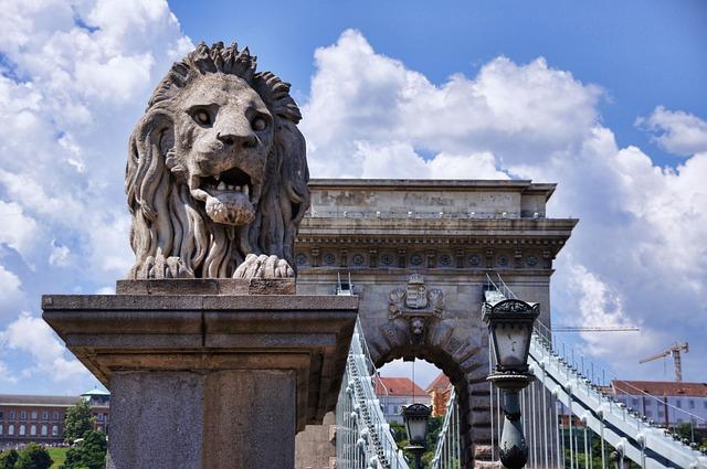 Chain Bridge, Bridge, Lion, Budapest