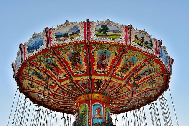Chain Carousel, Oktoberfest, Ride, Carnies