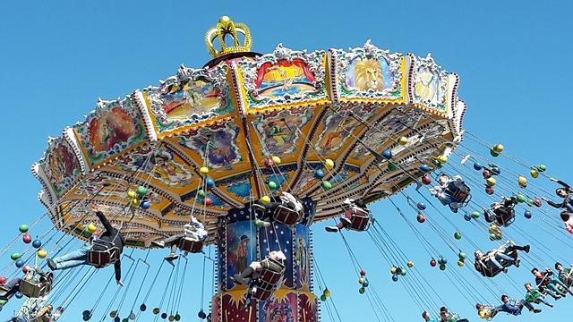 Chain Carousel, Oktoberfest, Spring Festival, Fair