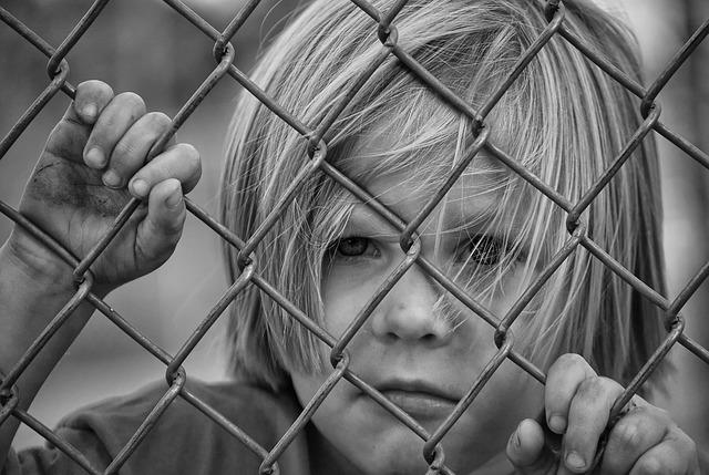 Boy, Looking, Fence, Chain Link, Young, Child, Male