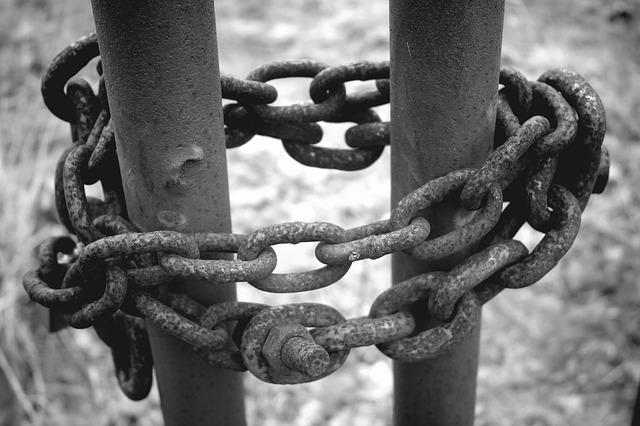 Chain, Iron, Rusty, Safety