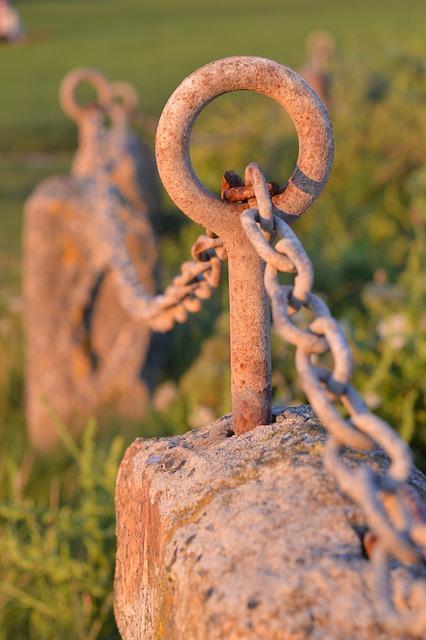 Chain, Rust, Eye, St Ives, The Island, Sunset, Cornwall