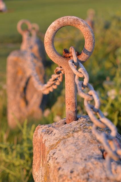 Chain, Rust, Eye, St Ives, The Island, Sunset, Cornwall