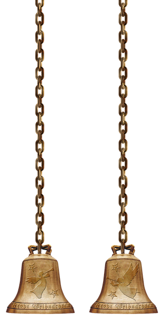 Christmas Chain Png.Free Photo Chains Christmas Bells Golden Metal Isolated