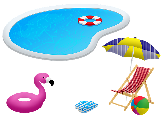 Swimming Pool, Chair And Umbrella, Flotation