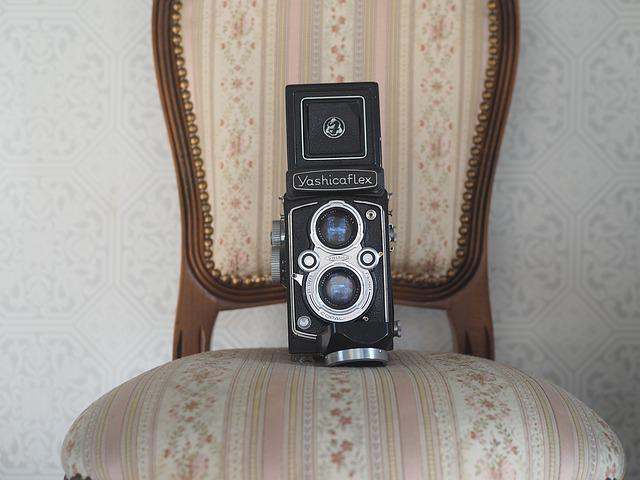 Camera, Chair, Twin-lens Reflex Camera, Yashica Flex
