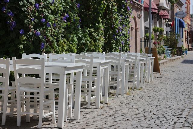 Restaurant, Chair, Cobblestone