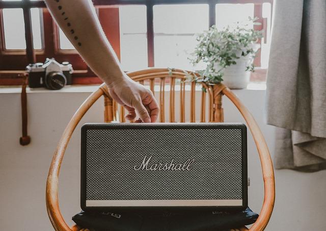 Speaker, Marshall, Chair, Home, Sound, Equipment