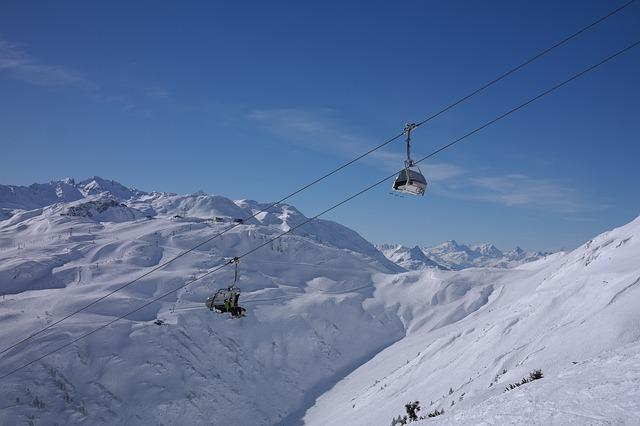 Ski Lift, Chairlift, Ski Area, Arlberg, Winter
