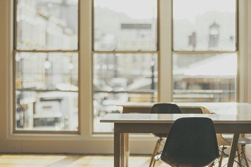Chairs, Desks, Windows