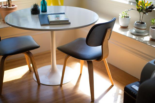 Furniture, Table, Chairs, Indoor Plants, Office, Room