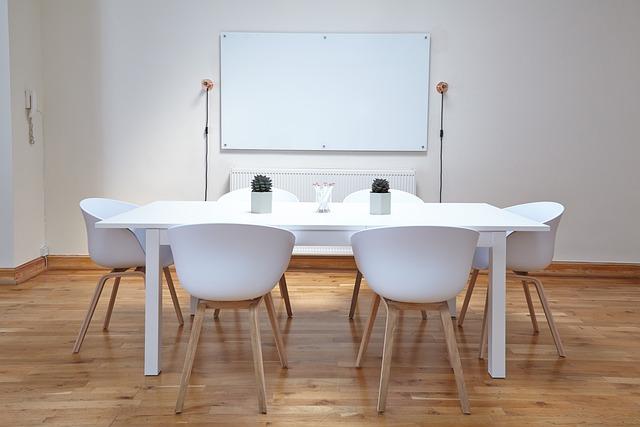 Chairs, Table, Empty, Interior Design, Minimalism