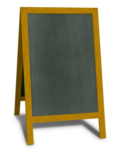 Chalkboard, Advertising, Blackboard, Chalk