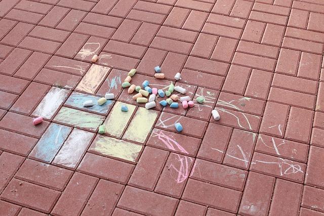 Country, Pavement, Brick, Paving, Chalk