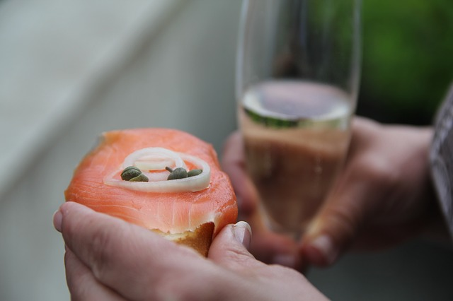 Aperitif, Salmon, Champagne, Birthday, Beverages