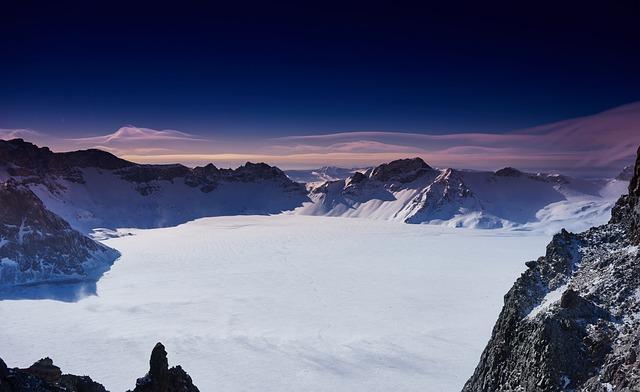 China, Changbai Mountain, Winter