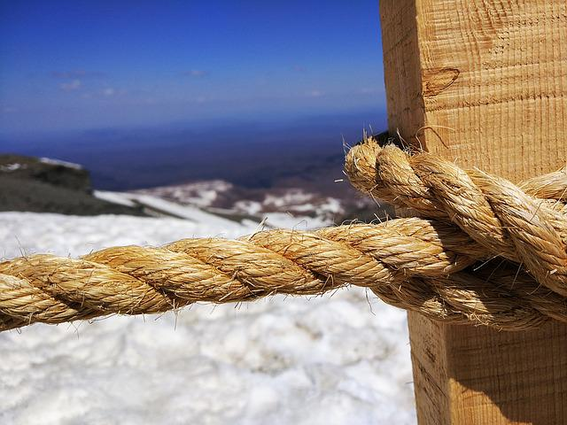 Changbai Mountain, Snow, Rope