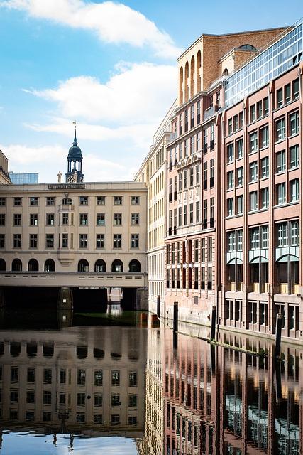 Building, Facade, Channel, River, Urban, Reflection