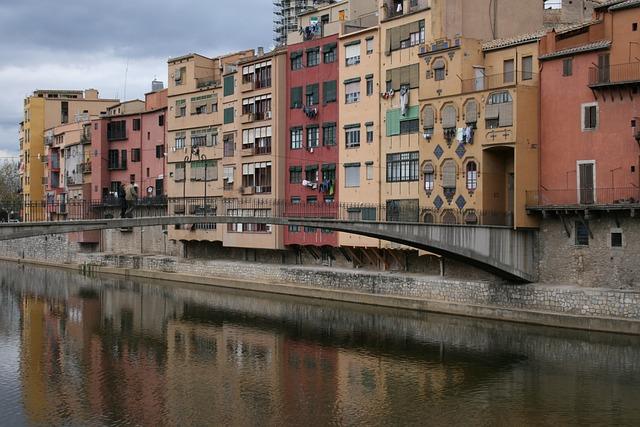 Girona, Urban Landscape, Buildings, Channel, Spain