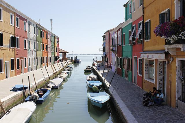 Lagoon Venice, Burano Island, Channel, Homes