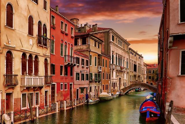 Gondola, Channel Navigation, Venetian, Architecture