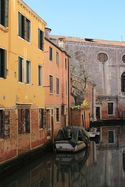 Venice, Alley, Channel, Road