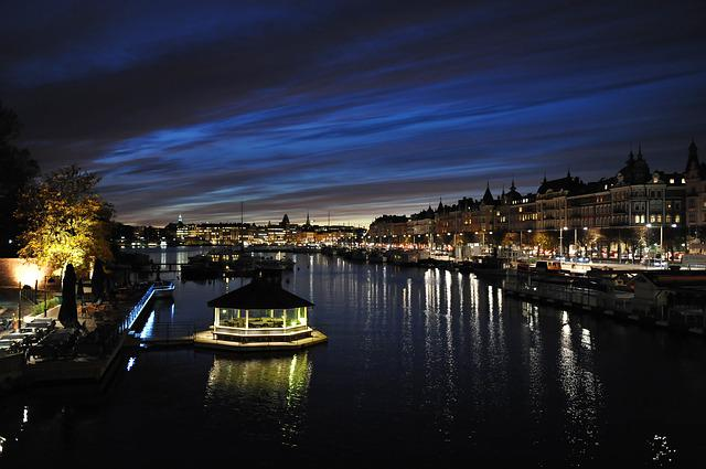 Sunset, Channel, Water, Evening, Stockholm