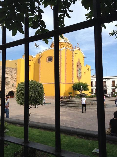Plaza, Chapel, Grating, San Luis Potosí, Mexico