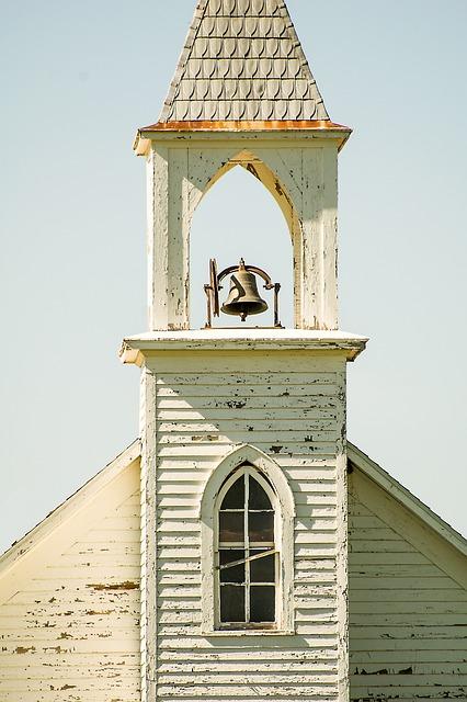 Little White Church, Chapel, Steeple, Church Bell