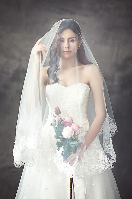 Wedding Dresses, Fashion, Character, Bride, Veil