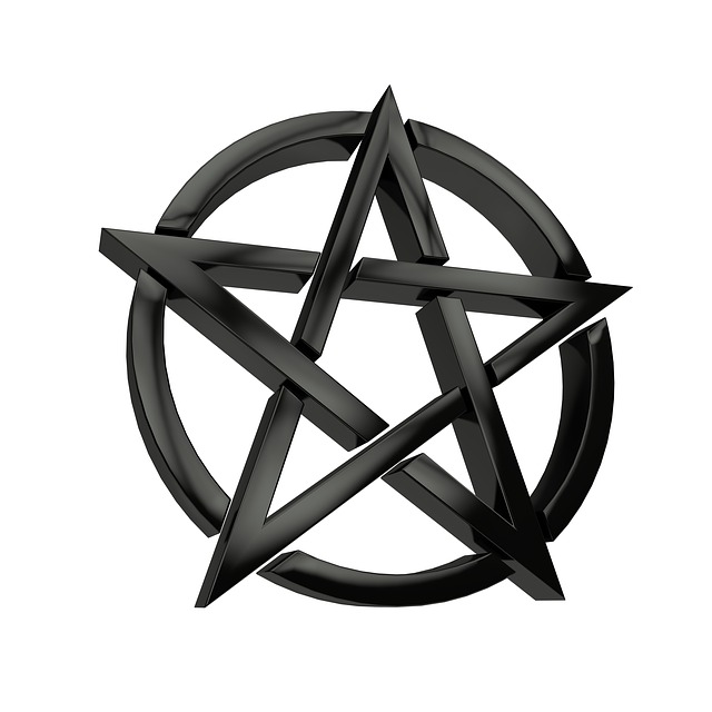 Pentacle, Black, Symbol, Characters