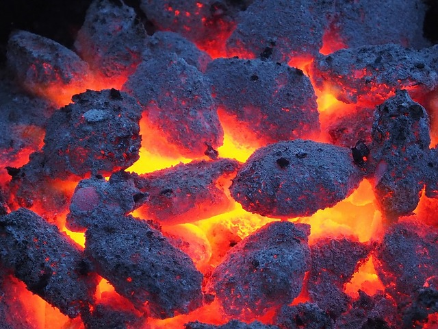 Barbecue, Charcoal, Grill, Embers, Hot, Fire, Black