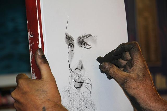 Charcoal Drawing, Charcoal Pencil, Portrait, Profile