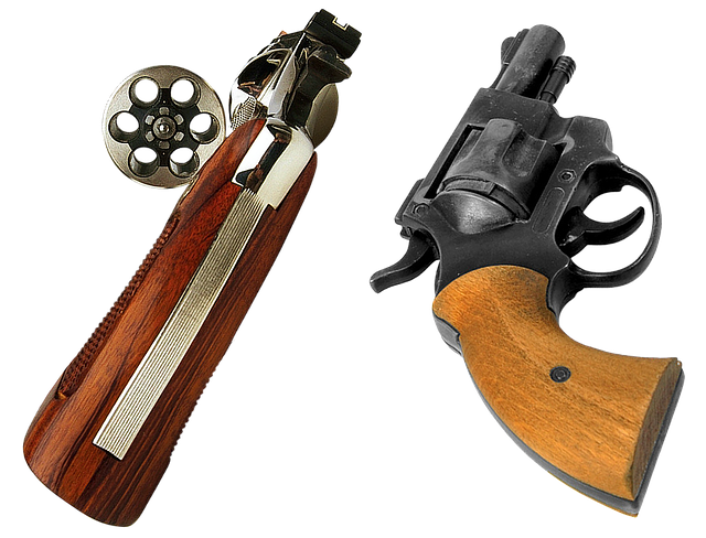Gun, Revolver, Drum, Patrons, Charge, Handle, Trigger