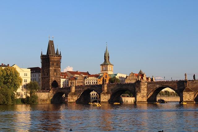 Prague, Vltava, River, Bridge, Charles Bridge, Romance