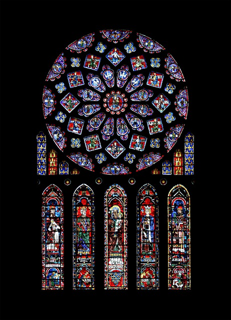 Chartres, Catholic, Rosette, Cathedral