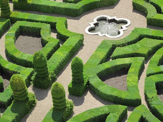 Château De Villandry, Gardens, Indre-et-loire, France
